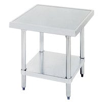 Advance Tabco SAG-MT-300 30 inch x 30 inch Stainless Steel Mixer Table with Stainless Steel Undershelf