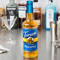 Torani 750 mL Sugar Free Pineapple Flavoring Syrup