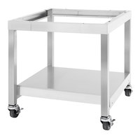Garland SS-CS24-18 28 15/16 inch x 18 inch Mobile Stainless Steel Equipment Stand with Casters