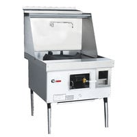Town Y-1-SS-N-20 York™ Single Chamber Natural Gas Wok Range with 20 inch Cantonese Chamber - 116,000 BTU