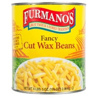 Furmano's #10 Can Fancy Cut Wax Beans - 6/Case