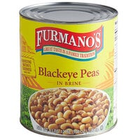 Furmano's #10 Can Black Eye Peas - 6/Case