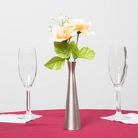 Tablecraft 267 6 1/2 inch Metal Hourglass Bud Vase
