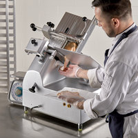 Avantco SL612A 12 inch Medium-Duty Automatic Meat Slicer with Manual Use Option - 1/2 hp
