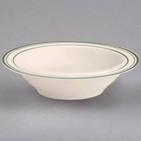 Homer Laughlin by Steelite International HL1661 Green Band Narrow Rim 4 oz. Ivory (American White) China Fruit Dish - 36/Case