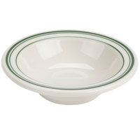 Homer Laughlin by Steelite International HL1621 Green Band Rolled Edge 4.5 oz. Ivory (American White) China Fruit Dish - 36/Case