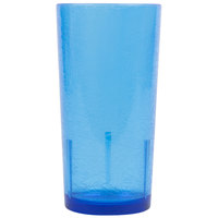 Cambro D24608 Del Mar 24 oz. Sapphire Blue Customizable SAN Plastic Tumbler - 36/Case