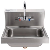 Advance Tabco 7-PS-60 Hand Sink with Splash Mount Faucet - 17 1/4 inch x 15 1/4 inch