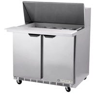 Beverage-Air SPE36HC-15M-23 Elite Series 36 inch 2 Door Mega Top ADA Height Refrigerated Sandwich Prep Table