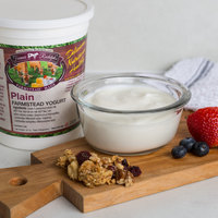 Farmer Rudolph's 32 oz. Plain Farmstead Yogurt - 6/Case