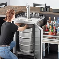 Beverage-Air BM23HC-S-31 Single Tap Kegerator Beer Dispenser - Stainless Steel, (1) 1/2 Keg Capacity