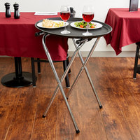 Tablecraft 24 Chrome-Plated Metal Tray Stand - 31 inch