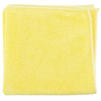 Unger MB40J SmartColor MicroWipe 16 inch x 16 inch Yellow Medium-Duty Microfiber Cleaning Cloth   - 10/Pack