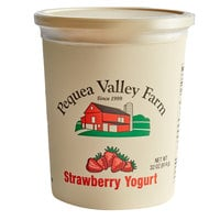 Pequea Valley Farm 32 oz. Strawberry Yogurt - 6/Case
