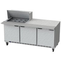 Beverage-Air SPE72HC-12M 72 inch 3 Door Mega Top Refrigerated Sandwich Prep Table