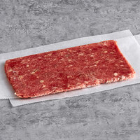 Devault Foods 4 oz. Philadelphia Style Raw Chunked and Formed Sandwich Slice Steak - 40/Case