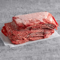 Hometown Pride Bulk Chunked and Formed Sirloin Steak Sandwich Slices - 10 lb.