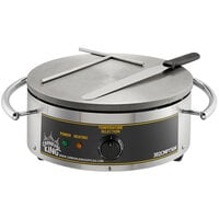 Carnival King CMPT16M 16 inch Round Portable Crepe Maker - 208/240V, 20 3/4 inch x 6 3/4 inch