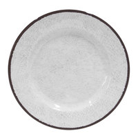 Elite Global Solutions D850M Mojave Vintage California 8 1/2 inch White Round Crackle Melamine Plate - 6/Case