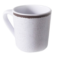 Elite Global Solutions DC-W-M Mojave Vintage California 10 oz. White Melamine Crackle Mug - 6/Case