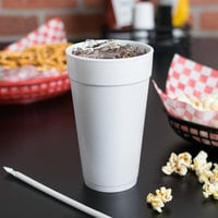 Dart 20J16 20 oz. Customizable White Foam Cup - 500/Case