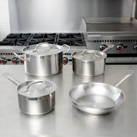Vigor 7-Piece Stainless Steel Induction Ready Cookware Set