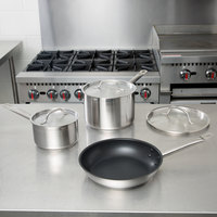 Vigor 6-Piece Stainless Steel Induction Ready Cookware Set
