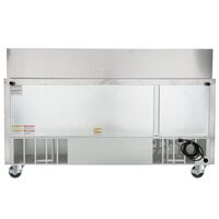 Beverage-Air SPE72HC-30M-23 72 inch 3 Door Mega Top ADA Height Refrigerated Sandwich Prep Table