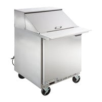Beverage-Air SPE27HC-12M-B-24 27 inch 1 Door Mega Top Refrigerated Sandwich Prep Table with Left-Hinged Door