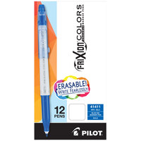 Pilot 41411 FriXion Colors Blue Ink with White Barrel 2.5mm Erasable Gel Stick Pen