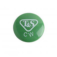 T&S 001191-45NS Green Cold Water Lab Index Button