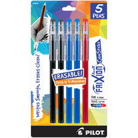 Pilot 32442 FriXion ColorSticks Assorted Ink with Assorted Barrel Color 0.7mm Erasable Gel Stick Pen - 5/Pack