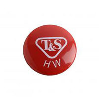 T&S 001194-45NS Red Hot Water Index Button