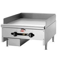 Wells HDG-6030G 60 inch Natural Gas Heavy-Duty Stainless Steel Countertop Griddle with Manual Controls - 150,000 BTU