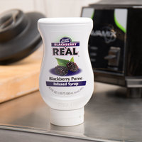 Real 16.9 fl. oz. Blackberry Puree Infused Syrup