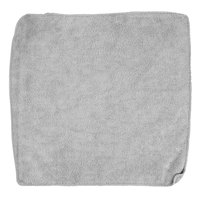 Rubbermaid 1863888 HYGEN Sanitizer Safe 12 inch x 12 inch Gray Microfiber Cloth - 24/Pack