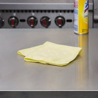 Rubbermaid 1820584 HYGEN Sanitizer Safe 16 inch x 16 inch Yellow Microfiber Cloth - 24/Pack