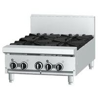 Garland GF24-2G12T Liquid Propane 2 Burner Modular Top 24 inch Range with Flame Failure Protection and 12 inch Griddle - 70,000 BTU