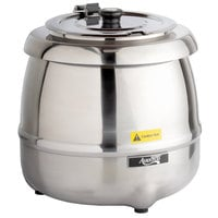 Avantco S30SS 11 Qt. Round Stainless Steel Countertop Food / Soup Kettle Warmer - 120V, 400W
