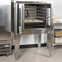 Garland MCO-GS-10 Natural Gas Single Deck Standard Depth Full Size Convection Oven with Digital Controls - 60,000 BTU