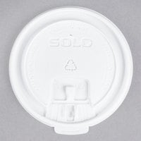 Solo LB3161 12, 16, and 20 oz. White Plastic Tab Lid - 100/Pack
