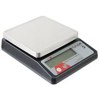 "Taylor TE10FT 11 lb. Compact 5 3/8"" x 5 3/8"" Digital Portion Control Scale"