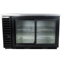 Beverage-Air BB58HC-1-GS-B 59 inch Back Bar Refrigerator with 2 Sliding Glass Doors 115V