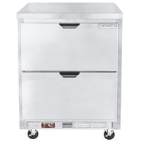 Beverage-Air WTRD27AHC-2-FLT-23 27 inch Compact ADA Height Worktop Refrigerator with Two Drawers