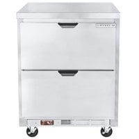 Beverage-Air WTRD27AHC-2-FLT 27 inch Compact Worktop Refrigerator with Two Drawers