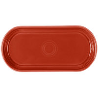 Fiesta Tableware from Steelite International HL412326 Scarlet 12 inch x 5 11/16 inch Oval China Bread Tray - 6/Case