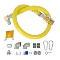 T&S HG-4E-48SEL-FF Safe-T-Link 48 inch SwiveLink Quick Disconnect Gas Hose with Swivel Fitting, Gas Elbows, and Restraining Cable - 1 inch NPT