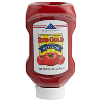 Red Gold 20 oz. Upside Down Squeeze Bottle Tomato Ketchup - 25/Case