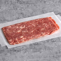 Levan Bros. 40-Count Case of 4 oz. Portions Classic Cut Seasoned Beef Steak Sandwich Slices - 10 lb.