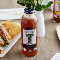Honest Tea 16 fl. oz. Organic Unsweetened Just Black Iced Tea - 12/Case